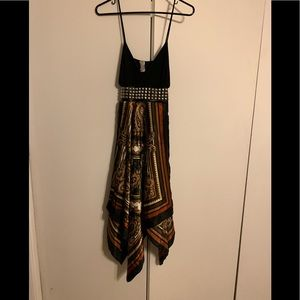Boho hippie studded wrap dress